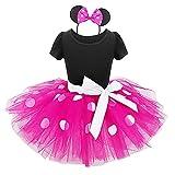 Bebé Niña Vestido de Fiesta Princesa Disfraces Tutú Ballet Lunares Fantasía Vestid Carnaval Bautizo Cumpleaños Baile para Infantiles Recién Nacido Disfraces de Princesa con Diadema 5 Años