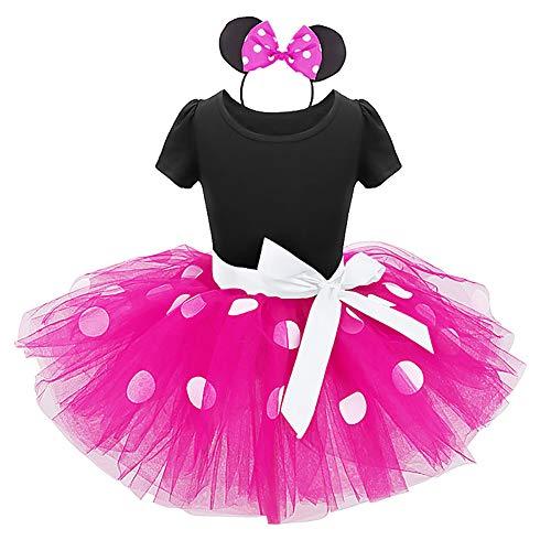 Mardi Mädchen Kostüm Gras - OBEEII Prinzessin Kleid Mädchen Baby Kinder Schmetterling Tüll Kleid Polka Dot Weihnachten Karneval Mardi Gras Cosplay Kleid Partykleid Outfits 4 Jahre Rosa