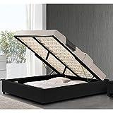 Meubler Design Sommier Coffre de Rangement Room - Noir - 140x190
