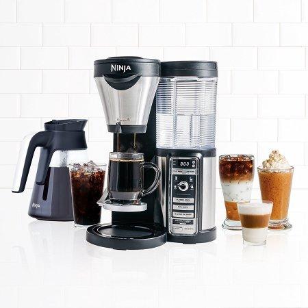 Kaffeemaschine Single-karaffe (Ninja Kaffee Bar mit Glas Karaffe und auto-iq One Touch Intelligence mit Permanent Filter Korb und ein Hot & Cold 18oz Isolierte Tumbler-cf080a (zertifiziert aufgearbeitet))