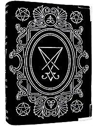 Gothic Tasche Schultertasche Restyle Buch schwarz Samt Stickerei Sigil Lucifer