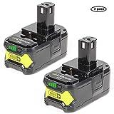 LENOGE 2-Pack 18V 5,0Ah Ryobi P108 RB18L50 Batterie de Lithium-ION de Haute...