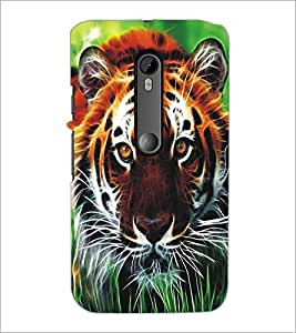 MOTOROLA MOTO G3 TIGER Designer Back Cover Case By PRINTSWAG