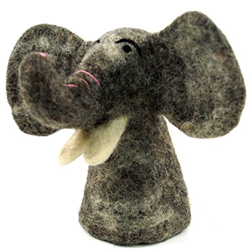 Guru-Shop Filz Eierwärmer – Elefant, Grau, Filzdeko