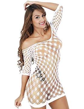 [Patrocinado]BaZhaHei-Productos para adultos, Falda de Red de Pesca de Cadera Ajustada Sexy del Malla de Mujer de Malla de...