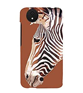 Zebra 3D Hard Polycarbonate Designer Back Case Cover for Micromax Canvas Android A1 AQ4501 :: Micromax Canvas Android A1