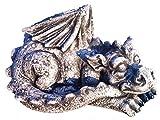 Massiver großer schlafender Stein Drachen Gartendeko aus Steinguss frostfest