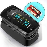SIMBR Pulsossimetro,Saturimetro da Dito Portatile Professionale con Display LCD per Frequenza del Polso(PR) e La...
