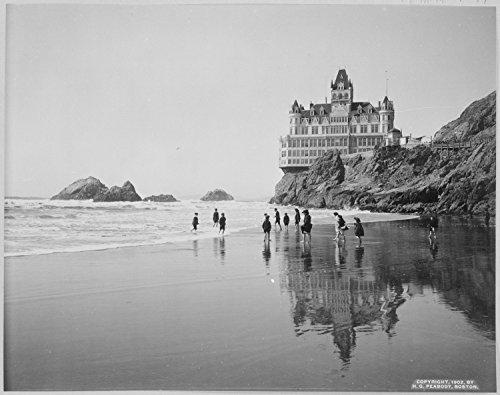 Lone Star Art Cliff House und Seal Rocks San Francisco California Vintage Foto-11x 14ungerahmt-Perfekt Vintage Beach House Decor -