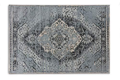 Lifa living tappeti aqua, tappeto stile vintage, tappeto per salotto e camera da letto, disponibile in diversi colori e taglie (blu/blu chiaro, 133_x_200_cm)