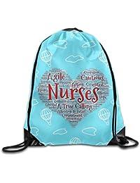 Willlly El Día De Las Enfermeras Las Enfermeras Lo Son Todo Mochila con Cordón Mochila Sackpack
