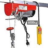Timbertech - Cabrestante de cable eléctrico 600 kg - Aprox. 6 m / 12 m