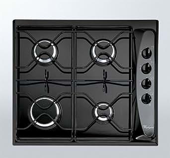 Whirlpool AKM260NB - Whirlpool Piano AKM 260 - Table de cuisson au gaz - 4 élément(s) - noir
