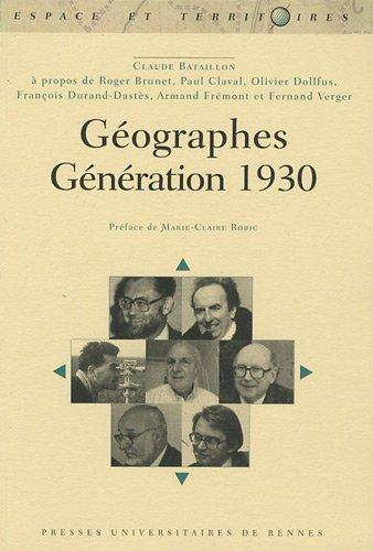 Géographes : Génération 1930