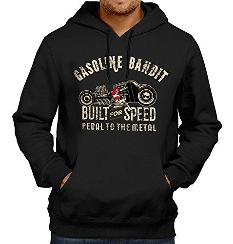 GASOLINE BANDIT® Design - Rockabilly Biker Racer Kapuzen-Pullover: Pedal to the - Oldtimer Pedale