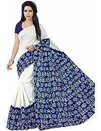 Jaanvi Fashion Bhagalpuri Silk Kalamkari Printed Saree