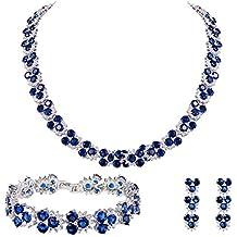 nuovo di zecca online in vendita saldi Amazon.it: Collana blu bigiotteria