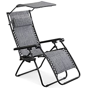 VonHaus Zero Gravity Chair with Canopy