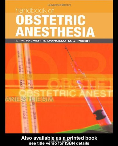 Handbook of Obstetric Anesthesia (Clinical References) (2001-06-15)