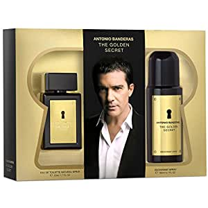 Luxueux Coffret Cadeau Homme – Antonio Banderas THE GOLDEN SECRET – Eau de Toilette Natural Spray 50 ml et Déodorant 150 ml