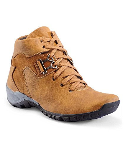 Shoe Rock Vision Men's Tan Synthetic Leather Casual Shoe - 9
