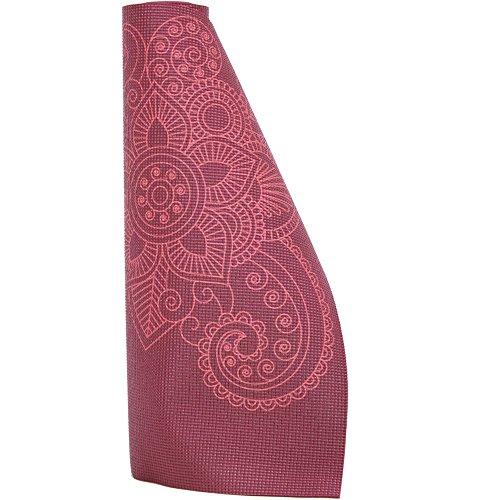 Lotus Design Yogamatte Mandala ECO-PVC, für Anfänger und Fortgeschrittene, Bedruckt, Yogamatten für Yoga, Pilates, Sport und Gymnastik, 183 x 61 cm, 4,5 mm