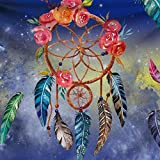 AFDEAL Tapisserie - Tappeto da Parete Hippie Psychedelic Bohemien Piume Colorate per Camera da Letto, Decorazione per Soggiorno, Camera da Letto