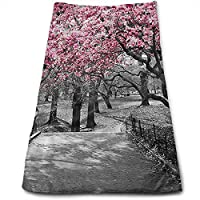 ewtretr Toallas De Mano,Blossoms In Central Park Cherry Bloom Trees Cool Towel Instant Gym