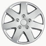 R Set Copricerchio Missouri 15 Nero Opaco//Cerchio Rosso AutoStyle KT970-15MBK 4 pezzi