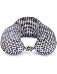 Skylofts Imported Memory Foam Neck Pillow Travel Cushions for Sleeping (Grey Uplift)