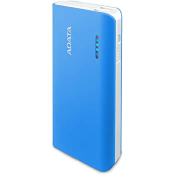 ADATA PT100 10000mAh Dual Output Fash Charging 3.1A Portable Charger Power Bank for Smartphones and Tablets - Blue (APT100-10000M-5V-CBLWH)