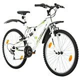 Multibrand, PROBIKE Extreme, 26x17 430 mm, 26 Zoll, Mountainbike, 18-Gang, Unisex, Weiß