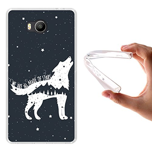 WoowCase Elephone P9000 Lite Hülle, Handyhülle Silikon für [ Elephone P9000 Lite ] Wolfphrase: We Are All Made of Stars Handytasche Handy Cover Case Schutzhülle Flexible TPU - Transparent