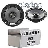 Audi A3 8P - Lautsprecher Boxen Clarion SRG1723R - 16cm Koaxsystem Auto Einbauzubehör - Einbauset
