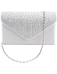 Pochette Sac de Soiree Soiree Mariage Envelopes Epaule chaine strass Party Handbag