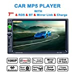 "Lling(TM) Double DIN,7"" In-Dash Touchscreen Stereo with Bluetooth Car Stereo/MP3 MP4 MP5 Audio Video Player/Steering Wheel Control/FM/AM/RDS Tuner and HD Radio,Black"