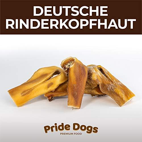 PrideDogs Rinderkopfhaut kurz 500g der Premium Kausnack für Ihren Hund   100% Rind aus Deutscher Herstellung   im geruchsneutralen Beutel   Kauartikel.