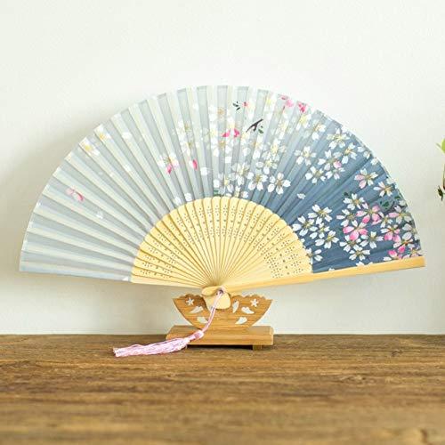 ZHANGBIN Chinesischer Stil Tanz weiblich Sommer Kostüm Retro Tuch Klassisch Faltfächer, Holz, 9, Größe (Werbung Symbol Kostüm)