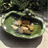 Solarbrunnen Keramik Frosch
