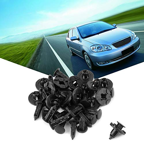 JohnJohnsen 40 Stücke Fahrzeug Auto Fit 8mm Loch Stoßstange Clips Fender Halter Liner Für Honda (Farbe: schwarz)