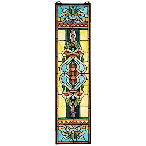 Design Toscano Blackstone Hall Hängende Buntglasfensterpaneele, Buntglas, Vollfarbe, 89 cm Americana-platte