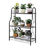 Mehrschichtiges Blumenregal Metall 3 Tiers Flower Stand Multifunktionsregal Leiter Pflanze Blumentopf Regal Regale für Indoor/Outdoor Multi-Layer Stehregal Bonsai Display Regal - L70.3 × W24.3 × H8