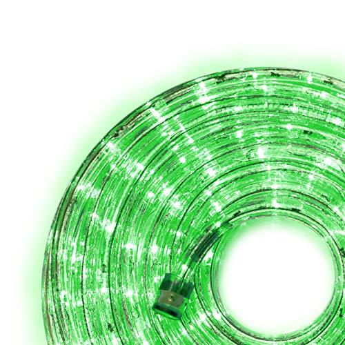 Nipach GmbH 20m 480 LED Lichterschlauch Lichtschlauch grün – Innen- und Außenbereich – energiesparende Leucht-Dekoration für Garten Fest Weihnachten Hochzeit Gesamtlänge ca. 21,50 m