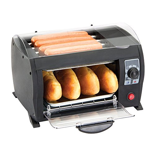 Global Gourmet Hot Dog Toaster Maker Machine - Electric Bread Grill with Timer - Enjoy Deliciously Cooked Hot Dogs in Just 8 Minutes!
