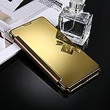 Housse Etui Coque Pour Samsung Galaxy C9 / C9 Pro, étui de protection arrière en miroir de galvanoplastie ( Color : Gold )