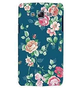 Citydreamz Blue Pink Floral Print Hard Polycarbonate Designer Back Case Cover For Samsung Galaxy A8