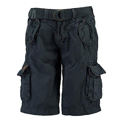 Geographical Norway Herren Cargo Shorts kurze Bermuda Hose Polish Men (Farbauswahl) Blue
