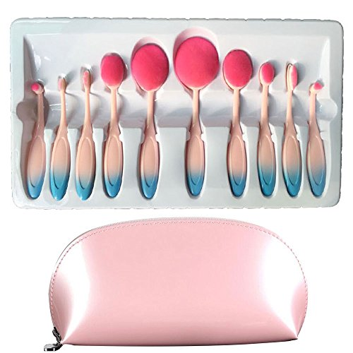 carsend-make-up-pinselset-10-teilig-inkl-grundierungspinsel-abdeckpinsel-puderpinsel-kosmetikpinsel-