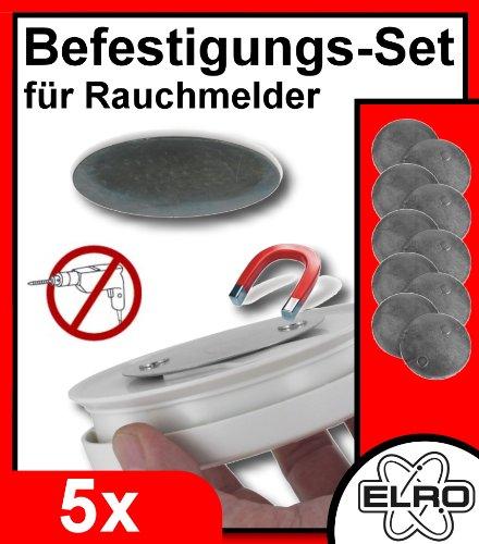 ELRO RMGA2 Magnethalterung für Rauchmelder im 5er Set