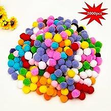 10mm Mini Pom Poms per Hobby e DIY Creativo Crafts Decorazioni da EarthSafe  - 2000 PCS 981681873be9